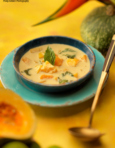 Curried Pumpkin Soup with Thai Basil